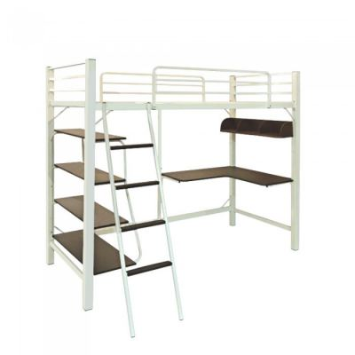 ALOHA LOFT Single Size Bed Frame with Study Table & Book Shelves