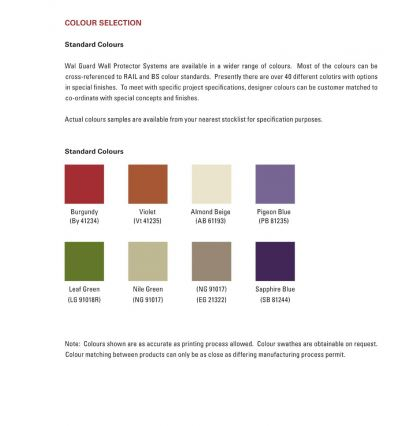 WAL Guard Protection System Color Selection