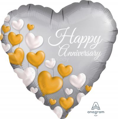 "Foil 18""happy Anniversary"
