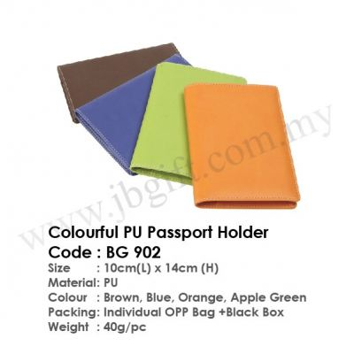 Colourful PU Passport Holder BG 902