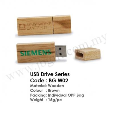 USB Thumb Drive / Pendrive Wooden Series BG W02