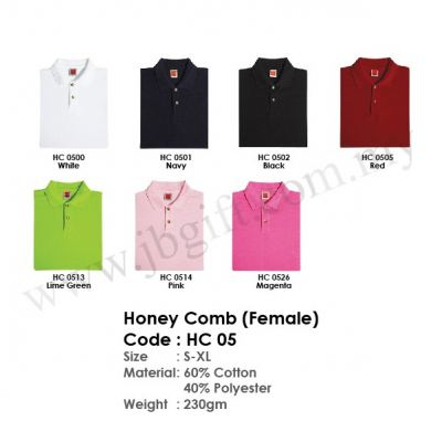 Honey Comb T-Shirt Uniform (Female) HC 05
