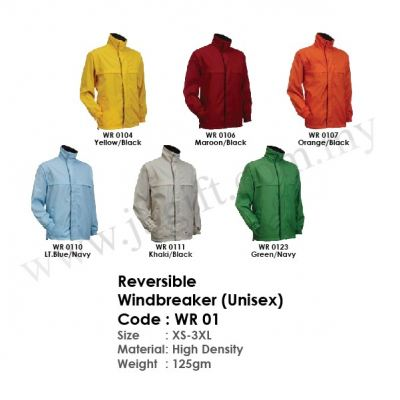 Reversible Windbreaker (Unisex Jacket) WR 01