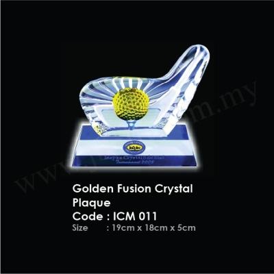 Golden Fusion Crystal Plaque ICM 011