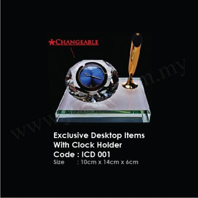 Exclusive Desktop Items With Clock Holder ICD 001