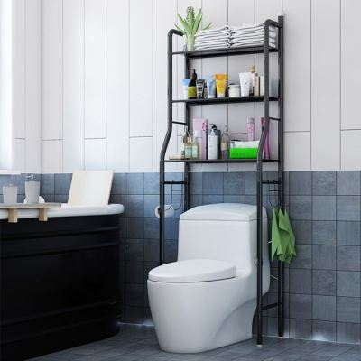 Multifunction Washroom & Bathroom Three Layered Steel Machine Painted Organizer Rack