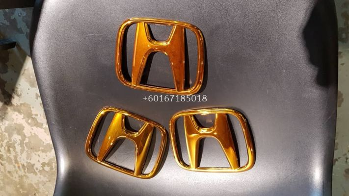 2017 2018 honda jazz logo gold new set