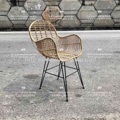 RSC 006 - RATTAN + STEEL CHAIR