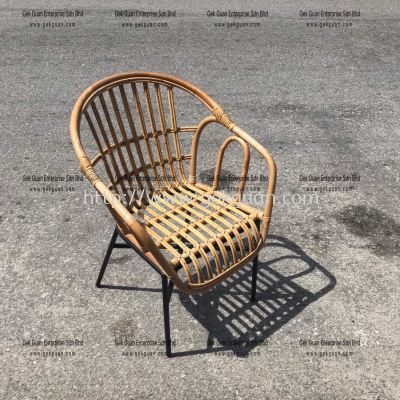 RSC 007 - RATTAN + STEEL CHAIR
