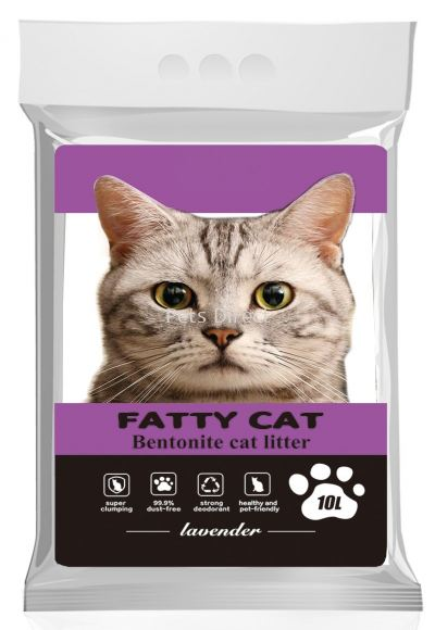 Fatty Cat Bentonite Cat Litter Lavender 10L