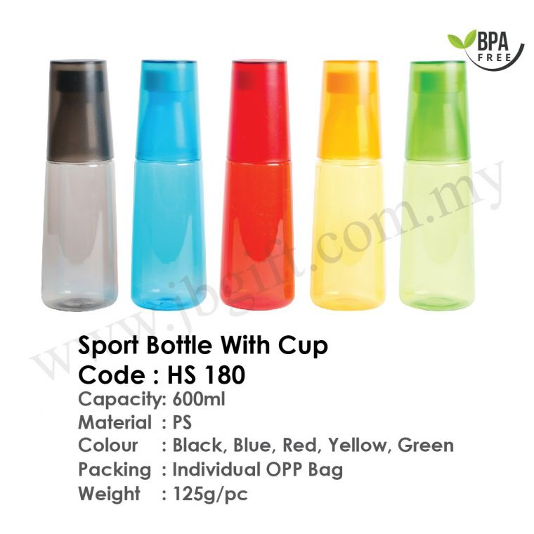 Sport Bottle (With Cup) BPA FREE HS 180 Sport Bottle Drinkwares