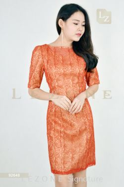 92648 MESH EMBROIDERED DRESS【BUY 2 FREE 3】