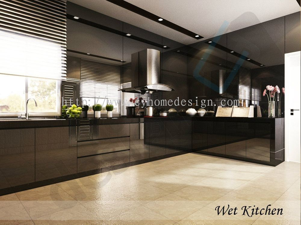 3D Living Kitchen Drawing Kitchen 3D Design Drawing