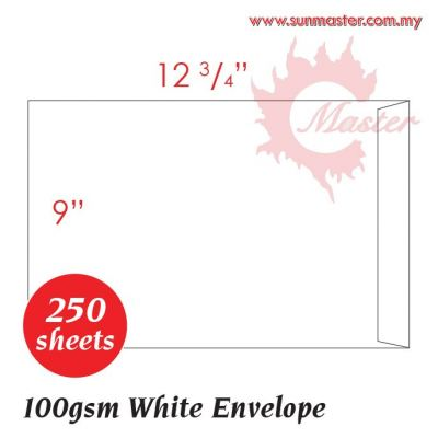 "9"" x 12 3/4"" White Envelope"