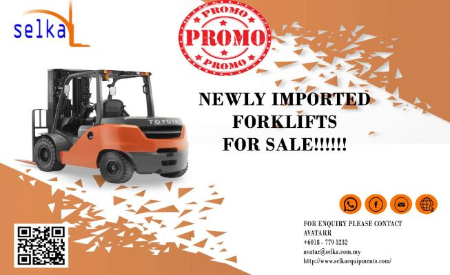 NEWLY ARRIVED FORKLIFTS FOR SALE