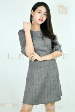 20850 PLAID S-LINE DRESS【MEMBER SALE 45% NON-MEMBER SALE 35%】