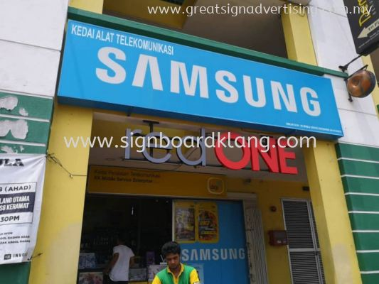 Red One Network Sdn Bhd 3D LED Channel Box Up Lettering Signage at Klang Utama