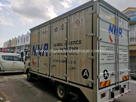 NNR Global Logistics Truck Lorry Die Cut Sticker