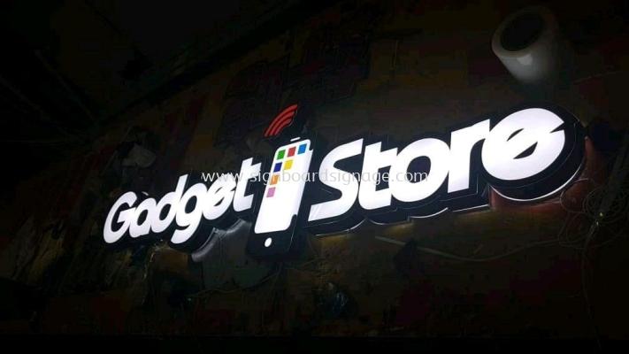 Godget Phone Store 3D LED Channel Box Up Signage