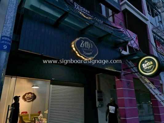 Zetty Flower Kafe 3D EG Box Up LED Backlit Signage @ Setia Alam