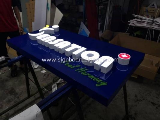 Sensation 3D LED Channel Box Up Lettering Signage @ Klang
