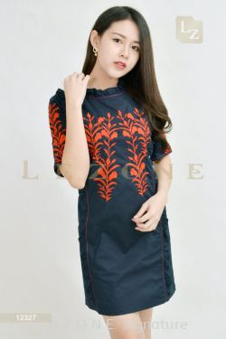 12327 EMBROIDERED DETAIL DRESS【BUY 2 FREE 3】