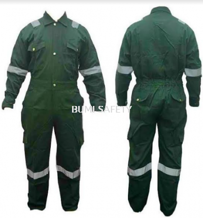 100% Cotton Coverall Dark Green