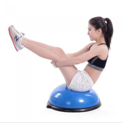 Bosu Ball Balance Training Exercise