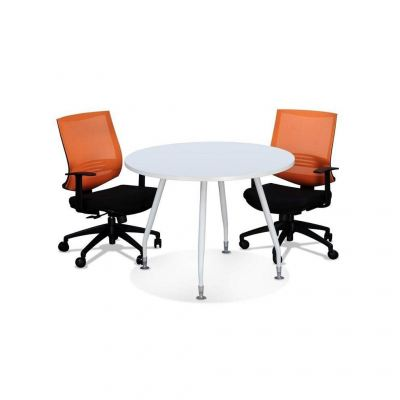Round discussion table with inula leg