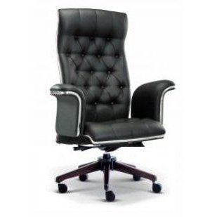 Grand director highback chair with wooden base AIM2181H
