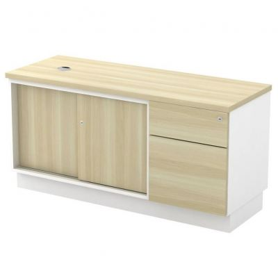 Side Cabinet with Sliding Door + Fixed Pedestal (AIM1226)