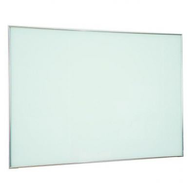 Tempered glass writing board with stainless steel frame