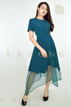 MF912 LEANN HIGH LOW ORGANZA DRESS【BUY 2 FREE 3】