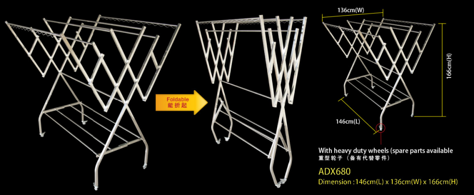 ADX 680 FREE STANDING CLOTHES HANGER