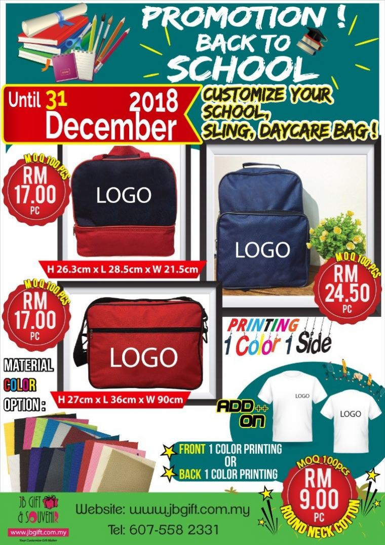 Promotion Back To School 2018 Promotion