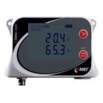Dual channel temperature data logger for one external Pt1000 probe with internal temperature sensor