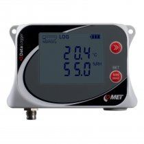 Temperature and humidity data logger for external probe
