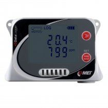 Temperature, humidity, CO2 and atmospheric pressure data logger with built-in sensors