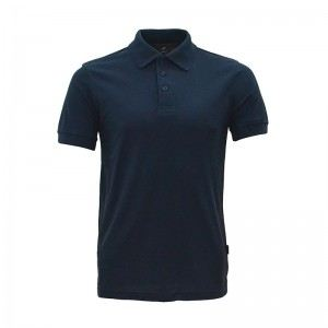 Lefonse Honey Comb Polo PlainT-Shirt  (L01-02) NAVY