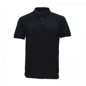 Lefonse Honey Comb Polo PlainT-Shirt  (L01-01) BLACK