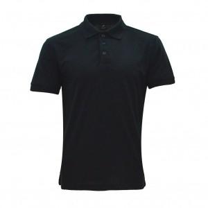 Lefonse Honey Comb Polo Ladies PlainT-Shirt  (LC01-01) BLACK