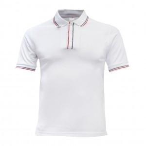 Lefonse Honey Comb Polo PlainT-Shirt  (L12-00) WHITE RED BLACK