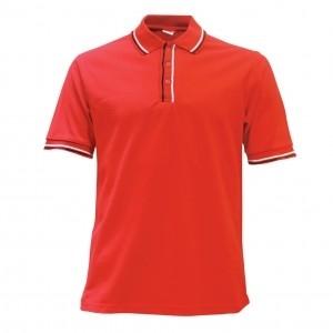 Lefonse Honey Comb Polo PlainT-Shirt  (L12-02) WHITE RED BLACK