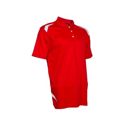 QD3405 Red/White Oren Sport Quick Dry Collar Tshirt RED with WHITE