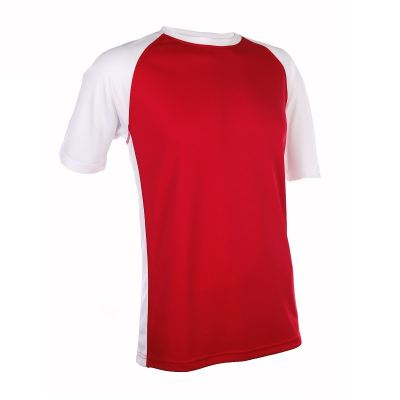 QD3605 Red Oren Sport Quick Dry Round Neck RED with WHITE