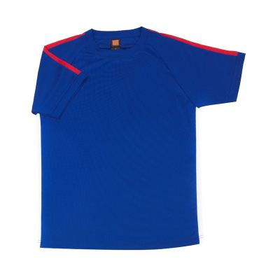 QD4208 Royal Oren Sport Quick Dry Round Neck ROYAL with RED with WHITE