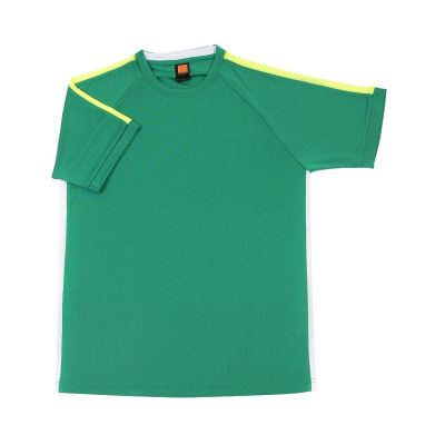 QD4266 Milo Green Oren Sport Quick Dry Round Neck MILO GREEN with NEON YELLOW with WHITE