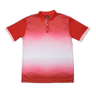 QD4505 Red Oren Sport Quick Dry Collar Tshirt RED with PINK
