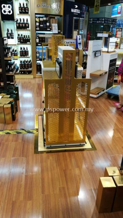 Acrylic Gold Mirror Display
