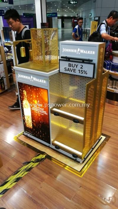 Acrylic Gold Mirror Display